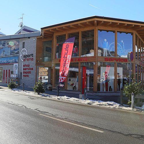 Skiverleih Arena direkt neben der Talstation der Zillertal Arena