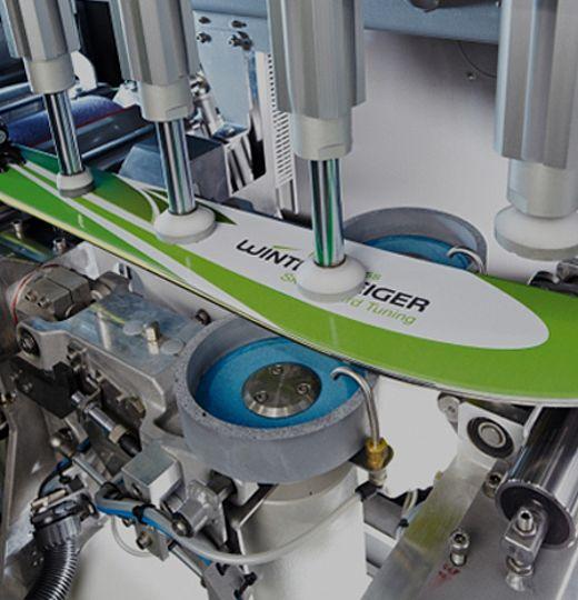 Modernste Schleifmaschine der Firma Wintersteiger